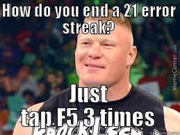 Brock Lesnar Meme - brock lesnar breaks the streak by fucktheworld123 meme center