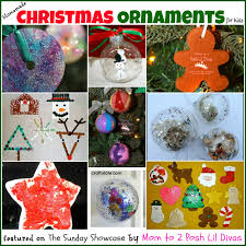 mom to 2 posh lil divas kids diy homemade christmas ornaments