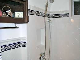 bathroom border tiles ideas for bathrooms photo of bathroom with cobalt blue tile borders