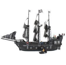 kazi blocs de construction jouet bateau pirate le noir perle jeux de