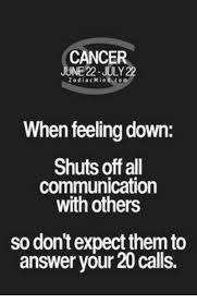 Feeling Down Meme - cancer 22 july zodiac min when feeling down shuts off all