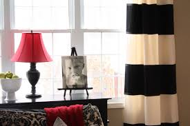 Black And White Bedroom Drapes The Yellow Cape Cod Diy Striped Drapes