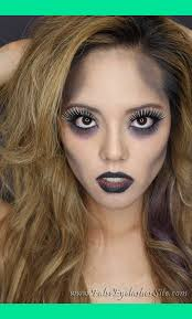 how to glam zombie halloween look with three costume false