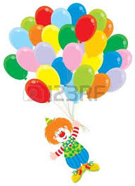 circus balloon circus clown with balloons royalty free cliparts vectors and