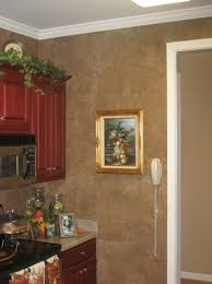 new faux paint finish in the kitchen