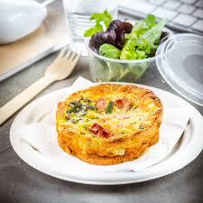 recette de cuisine professionnel déjeuner au travail recette quiche sans pâte jambon et courgettes