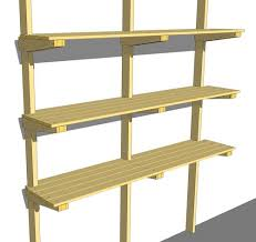 Wooden Storage Shelves Diy by Best 25 Garage Shelving Plans Ideas On Pinterest Building
