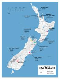New Zealand On Map Detailed New Zealand Wine Regions Map Wine Posters Wine Folly