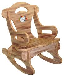 Nursery Furniture Rocking Chairs Furniture Brown Puzzle Baby Rocking Chair Made From Solid Wood