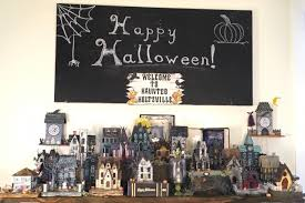 with glue and glitter halloween village 2017 for habitat for