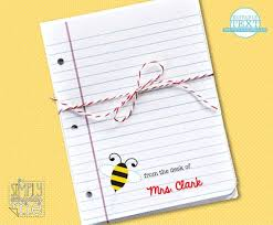 printable note cards pdf editable teacher note cards bee diy printable pdf by