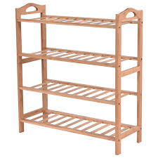 4 tier bamboo shoe shelf storage organizer shoe racks