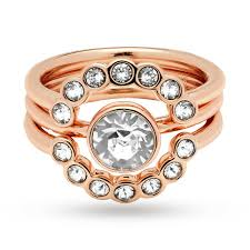 jewelry large rings images Ted baker rose gold plated cadyna concentric crystal stacking ring jpg