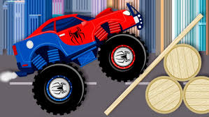 monster truck video for toddlers spiderman monster truck videos for children videos for kids