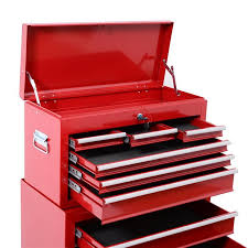 Rolling Tool Cabinets Aosom Homcom Deluxe Rolling Tool Cabinet Chest With 6 Drawers