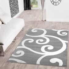 Wohnzimmer Grau Weis Teppich Hellgrau Weiss Haus Deko Ideen
