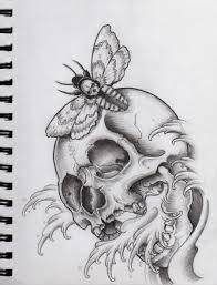 skull and moth by frosttattoo deviantart com on deviantart draw