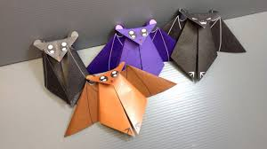 Bat Halloween Craft by Origami Halloween Bat Print Your Own Paper Youtube