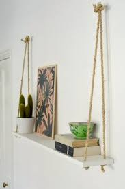 swing shelf reclaimed wood shelf wood and leather urban