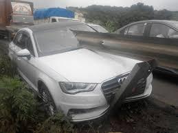 audi a3 crash on mumbai pune is a bit hard to take in drivespark