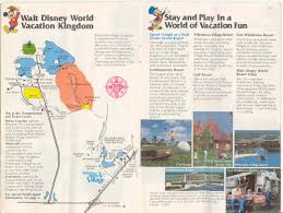 Fort Wilderness Map Magic Kingdom Guide Book 1982 Photo 1 Of 13