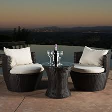 Outdoor Patio Table Set Kyoto Outdoor Patio Furniture Brown Wicker 3