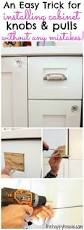 Where To Place Kitchen Cabinet Knobs Installing Cabinet Hardware Can Be Intimidating This Simple Trick