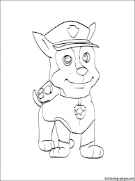 chase paw patrol coloring coloring pages