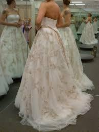 oleg cassini oleg cassini blush colored wedding dress u0026 veil