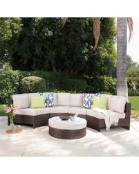 Patio Chair With Ottoman by Spring Savings On Madras Tortuga Outdoor Wicker Sectional Set With