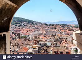 split houses split croatia 12 july 2017 roofs of houses in split croatia
