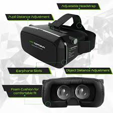 amazon com tepoinn 3d vr glasses headset with adjustable lens and