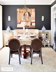 rug dining room citrineliving neutral dining room updates