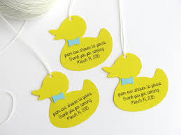 rubber duck baby shower favor tags boy baby shower thank you