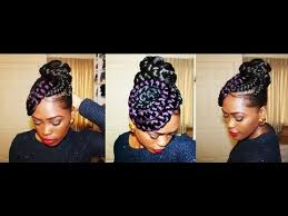 images of black braided bunstyle with bangs in back hairstyle putting my thought into action braided bun n swirls youtube