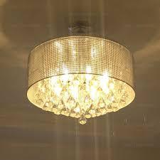 Drum Chandelier Lighting Drum Shaped Crystal E12 E14 Chandelier Light Fixtures