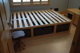 How To Build A Platform Bed With by Collection With How To Make A Platform Bed Storage Picture