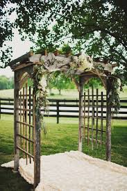 wedding arches rustic woodsy tennessee wedding ruffled