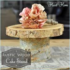 tree stump cake stand rustic wood cake stand all things heart and home