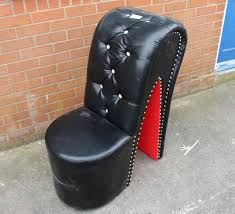 christine louboutin style feature shoe chair