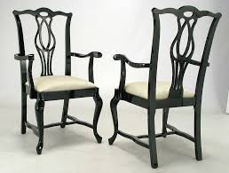 six italian black lacquer chinese chippendale dining chairs at 1stdibs
