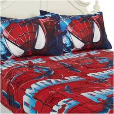 Superhero Twin Bedding 3 Pc Cotton Rich Full Spiderman Comforter Bedding Set U2013 Superhero
