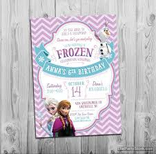 frozen birthday invitation frozen birthday party invitation