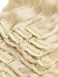 Blonde Hair Extensions Clip In by 30 Inch Body Wave Clip In Hair Extensions Clean 613 Bleach Blonde