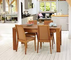 OLTEN Oiled Oak Modern Extending Dining Table With Drawer Dining - Kitchen table with drawer