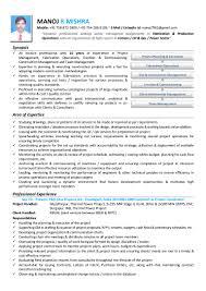mechanical resume manoj resume