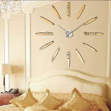 Design Home Decor Wall Clock by Compare Prices On Mirror Design Wall Clocks Online Shopping Buy