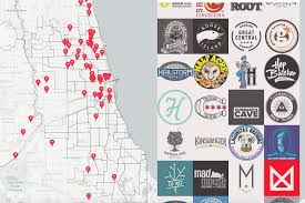Chicago City Map by The Ultimate Map Of Chicago U0027s Craft Beer Scene How Many Have You