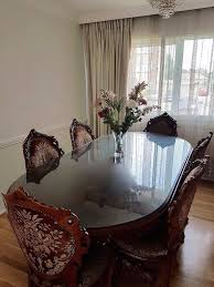beautiful antique styled victorian dining table and chairs in
