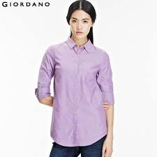 oxford blouse giordano 2014 casual fashion sleeve oxford blouse and